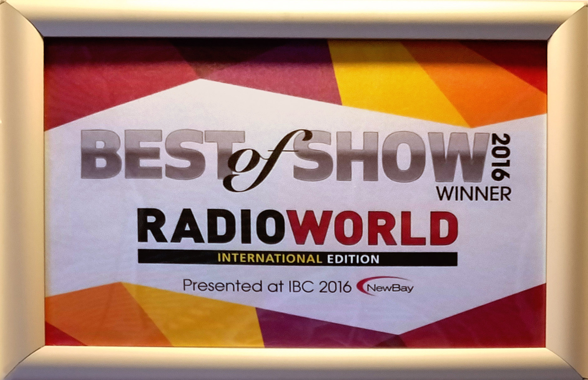 AirAura X1 Wins Best of Show at IBC 2016!
