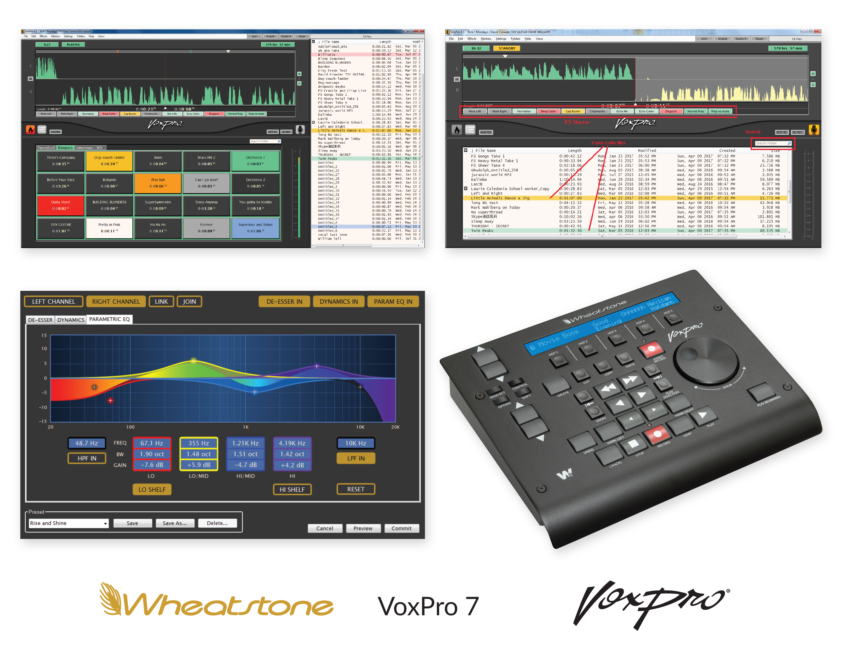 WHEATSTONE, RADIO AIR-PERSONALITY DEBUT NEW VOXPRO 7 AT NAB 2017