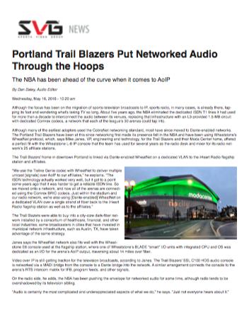 SVG Portland Trailblazers Story