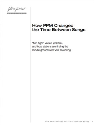 VoxPro: How PPM Changed the Time Between Songs