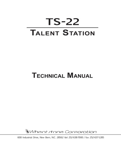 TS-22 Owner's Manual